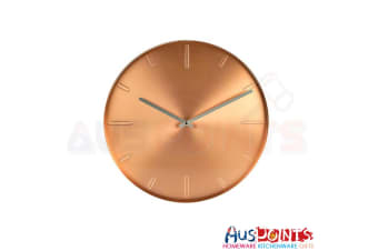 Karlsson Belt Wall Clock 40cm  Metal Copper
