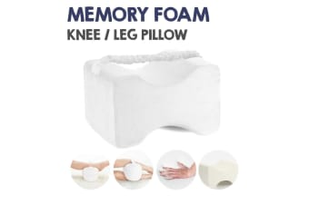 White Color Memory Foam Leg Knee Support Pillow Orthopedic Firm Pain Relief