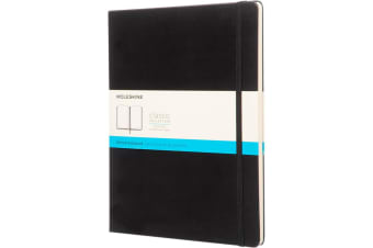 Moleskine Classic XL Hard Cover Dotted Notebook (Solid Black) (One Size)