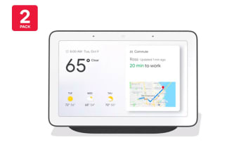 Google Home Hub (Charcoal) - Australian Model - 2 Pack