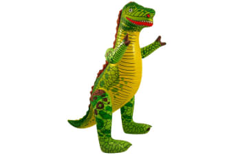 Henbrandt Inflatable Dinosaur (Green/Yellow) (One Size)