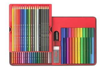 Faber-Castell 64 Piece Classic Colour Pencil & Connector Pen Set