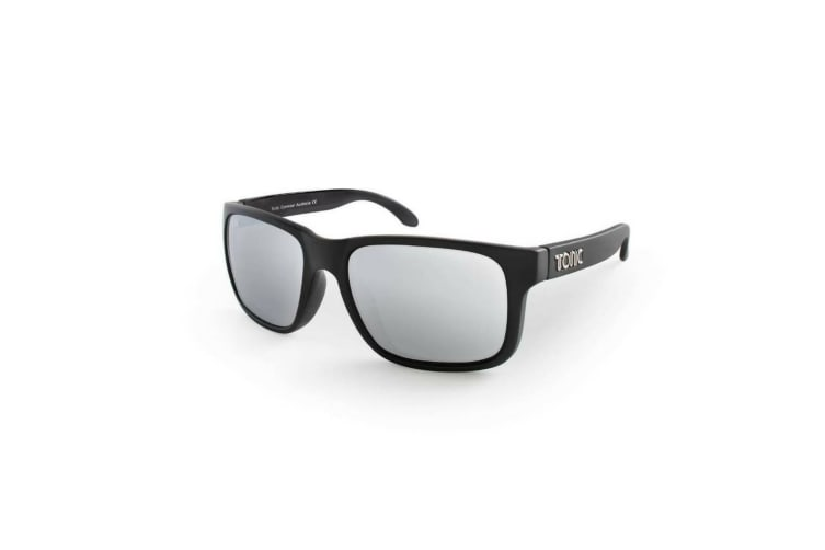 Silver Mirror Mo Tonic Glass Lense Fishing Sunglasses with Black Frame