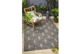 Wyatt Black & Natural Geometric Coastal Rug 290 x 200cm