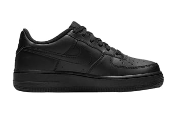 Nike Air Force 1 (GS US) Boys' Shoe (Black/Black/Black, Size 5.5Y US)