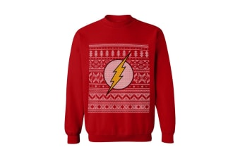 The Flash Unisex Christmas Jumper (Red)