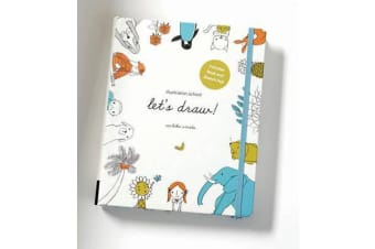 Illustration School: Let's Draw! (Includes Book and Sketch Pad) - A Kit with Guided Book and Sketch Pad for Drawing Happy People, Cute Animals, and Plants and Small Creatures