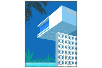 Pool View Architecture | Floating Frame Artwork | 80 x 100cm