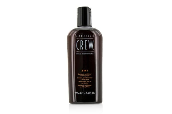 American Crew Men Classic 3-IN-1 Shampoo, Conditioner & Body Wash (250ml/8.4oz)