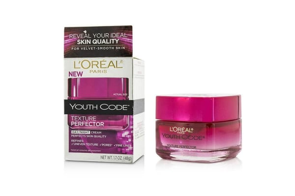 L'Oreal Youth Code Texture Perfector Day/Night Cream - For All Skin Types (Box Slightly Damaged) (48g/1.7oz)