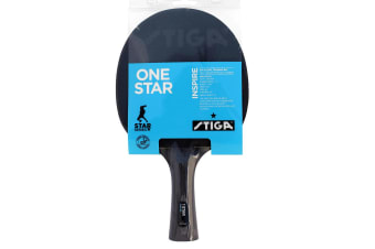 Stiga Inspire 1 Star Table Tennis Bat Ping Pong Racket Paddle Rubber Blk/Red