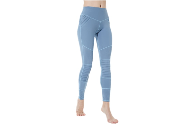 Yoga Pants For Women Tights Elastic Hight Waist Pants Fitness Leggings Blue S