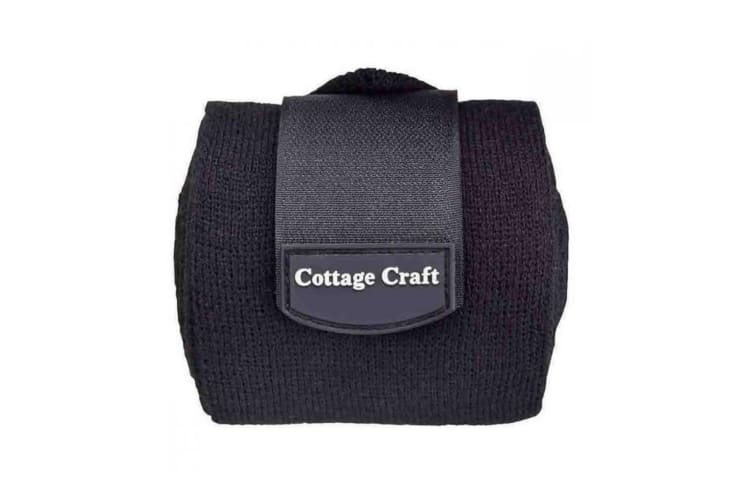 Cottage Craft Stable Bandages (Pack Of 4) (Black) (One Size)