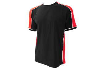 Formula Racing® Estoril T-Shirt / Mens Sportswear (Black/Red)