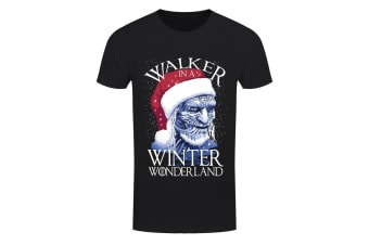 Grindstore Mens Walker In A Winter Wonderland T Shirt (Black) (XXL)