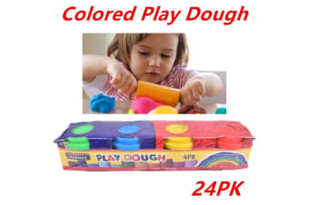 24 x Play Dough Compound Tubs Set Cans Modelling Doughs Toys Playdough Kids 3+