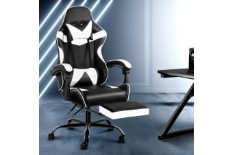 Artiss Gaming Office Chair Computer Desk Chairs Seat Racing Recliner Racer WH