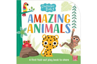 Chatterbox Baby: Amazing Animals - Fold-out tummy time book
