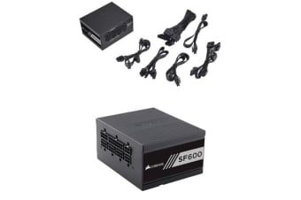 Corsair 600W SF 80+ Gold Fully Modular 80mm FAN SFX PSU (Not ATX Standard) 7 Years Warranty