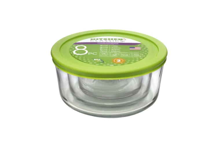 Kitchen Classics Glass Round Containers With Lids - Set 4