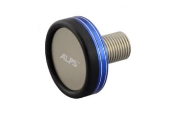 1 x Alps Deluxe Fishing Rod Butt End Cap with Threaded Insert -Choose the Colour [Colour: Chrome Blue/Silver]
