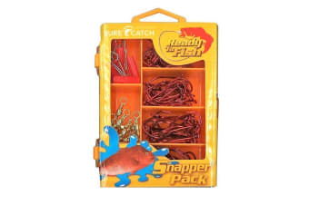 Surecatch 120pc Snapper Pack In Fishing Tackle Box - Tackle Kit