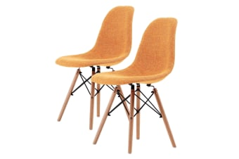 Replica Eames DSW Dining Chair - LIGHT ORANGE X2