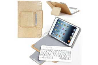 For Samsung Galaxy Tab A 8.0 2019 T290 Tablet Stand Case Bluetooth Keyboard Cover-Gold