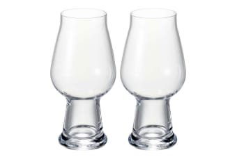 2pc Luigi Bormioli Birrateque 540ml Craft Beer IPA Crystal Glass Drink Glasses