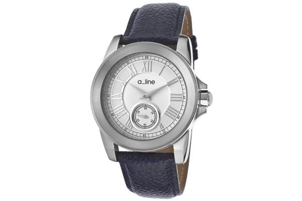 A-Line Women's Amare Navy Blue Genuine Leather Silver Tone Dial (AL-80022-03-BU)