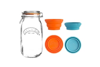 Kilner Measure and Store Set 3L Jar 125ml and 250ml Cup