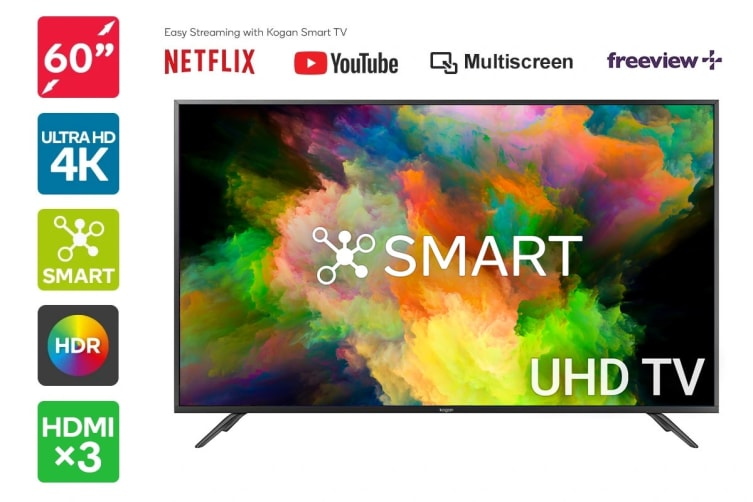 "Kogan 60"" Smart HDR 4K UHD LED TV (Series 8 LU8010)"