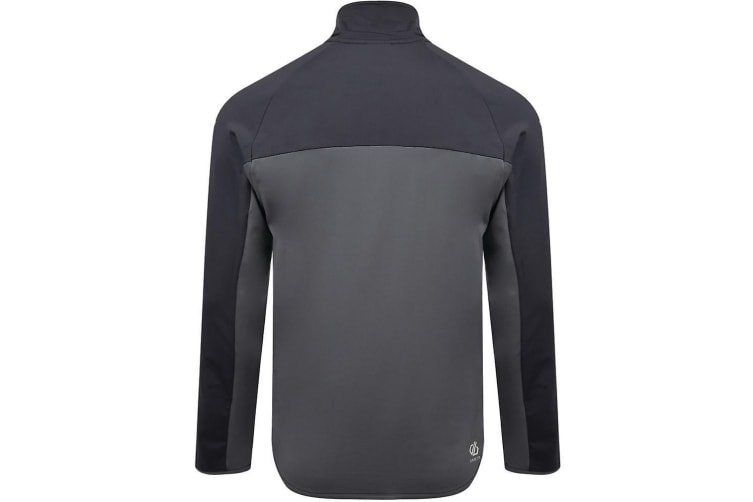 Dare 2B Mens Riform Lightweight Core Stretch Midlayer (Ebony/Ocean Depths/Aluminium Grey) (XXXL)