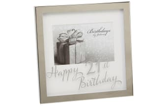 Birthdays By Juliana Mirror Print Box Frame (Silver) (50th)
