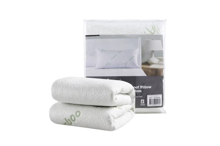 Bamboo knitted waterproof  pillow protector Twin Pack