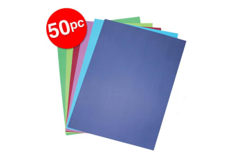 50pc Colourful Days A3 Board 200GSM Cool Art/Craft School Paper Assorted Colours