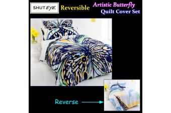 Artistic Butterfly Quilt Cover Set KING by Shuteye