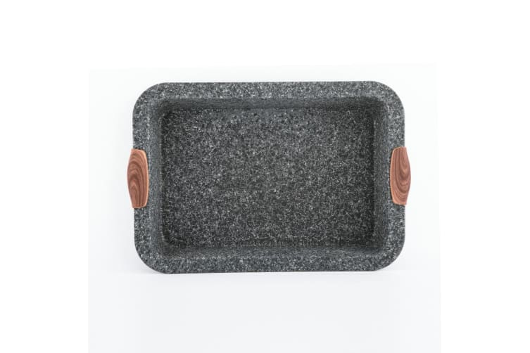 Steinfurt Stone Coated Non stick Carbon Steel Rectangular Cake Mould Tray