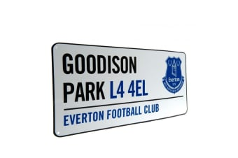 Everton FC Official Street Sign (White)