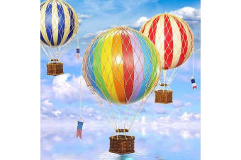 Ornamental Vintage Hot Air Balloons - Medium Rainbow