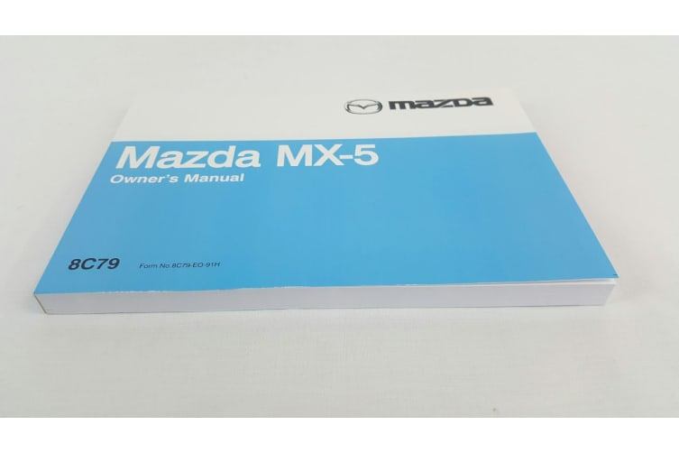 New Genuine Mazda MX-5 NA Owners Manual MX5 1989 - 1993 8C79-EO-91H