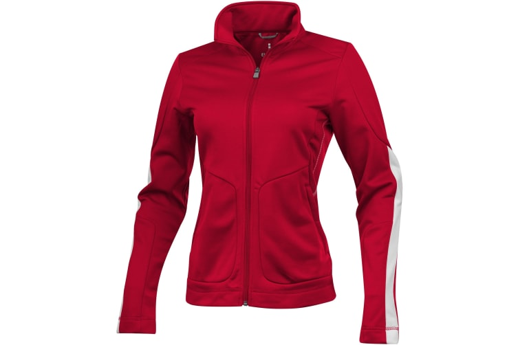 Elevate Womens/Ladies Maple Knit Jacket (Red) (L)