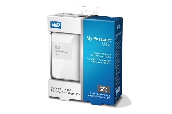 "WD My Passport Ultra Portable 2.5"" 2TB External USB 3.0 HDD - White (WDBBKD0020BWT)"