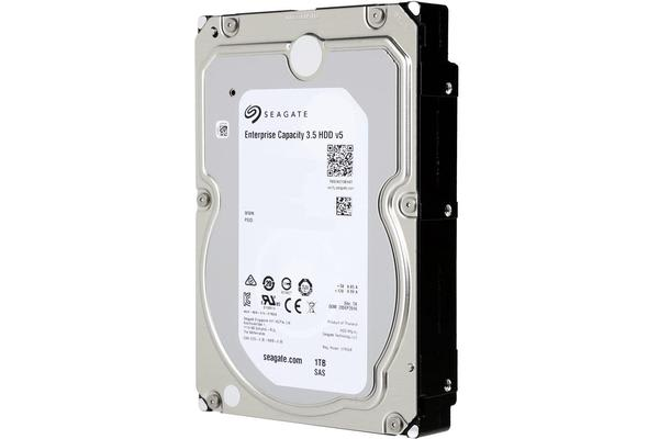 Seagate 1TB Enterprise Capacity 3.5 HDD, SAS 12GB/s, 7200RPM, 128MB, Engineered for 24x7 Workloads