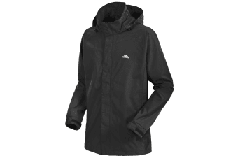 Trespass Mens Kellar Waterproof And Windproof Rain Jacket (Black)