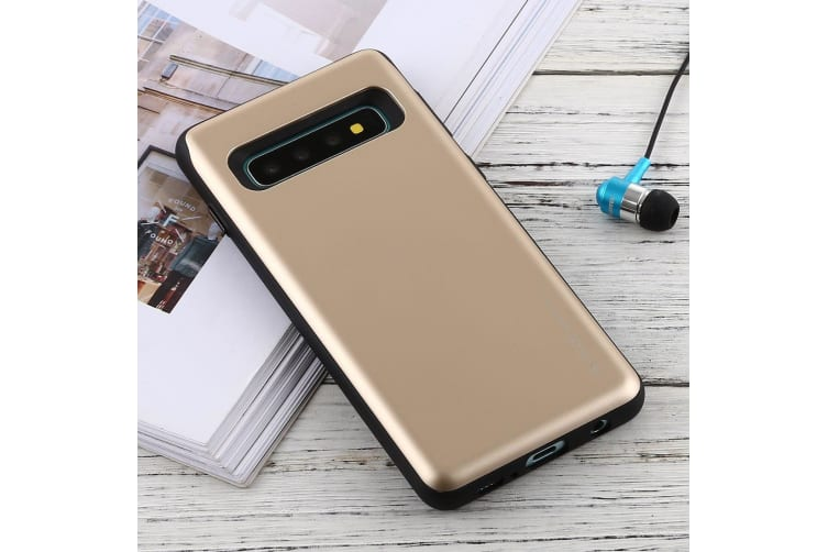 For Samsung Galaxy S10 Case Gold Sky Slide Bumper TPU & PC Combination Cover