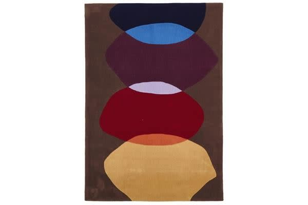 Multi Brown Pebble Rug 280x190cm