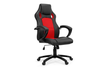 Ergolux RX8 Deluxe Gaming Office Chair (Red, Racing Series)