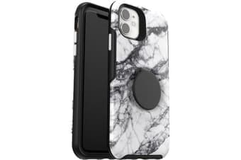 Otterbox iPhone 11 Otter + Pop Symmetry Series Case PopSockets PopGrip 360 Degree Phone Protection Cover for Apple - White Marble
