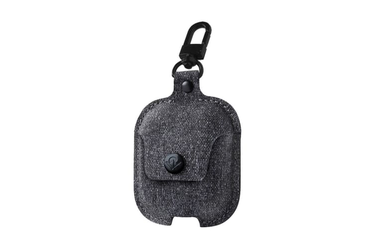 Twelve South AirSnap Case for AirPods - Smoke Dark Gray Twill